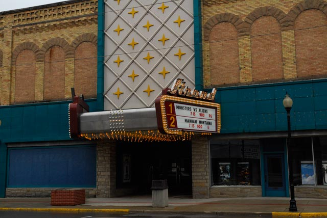 Front of Strand Theatre Kendallville